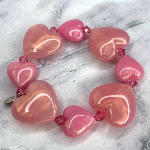 Tarina Tarantino Classic Lucite Heart Bracelet